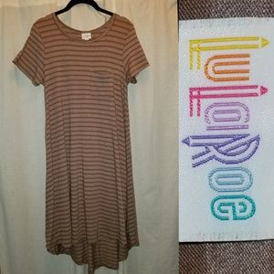 Cotton Blend Brown Striped Carly XS (sz 2-4)…